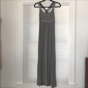 Calvin Klein Striped Strappy Maxi Dress Size 6